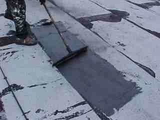 Additional material for flat roof repair of blisters