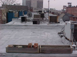 View of the foam roofs