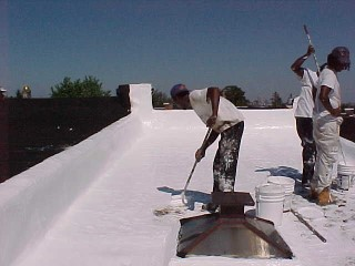 Row house project with cool roofing